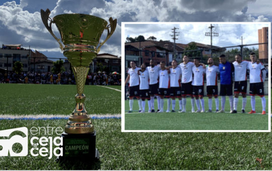 Rionegro se coronó campeón del Torneo Intermunicipal de fútbol.