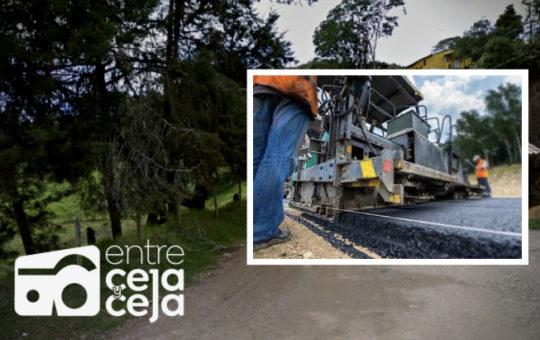 Pavimentación del último kilómetro de la vía de Rancho Triste – San José en La Ceja ya es un hecho.
