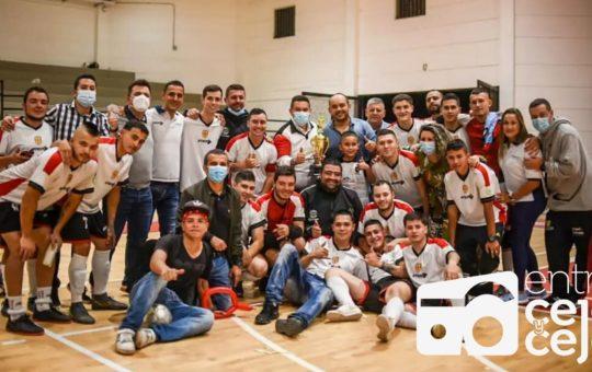 Rionegro celebra el título del Intermunicipal de Fútbol Sala.