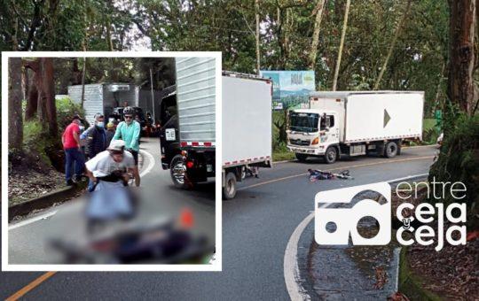 Joven de 17 años nueva víctima del Gravity Bike en la vía La Ceja.