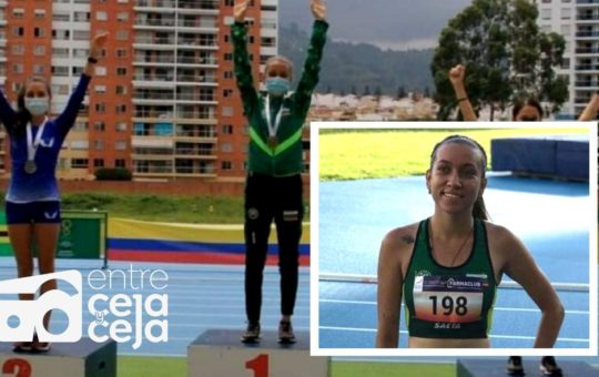 La cejeña Estefanía Aristizábal, conquistó su primera medalla de Oro Nacional en Atletismo.