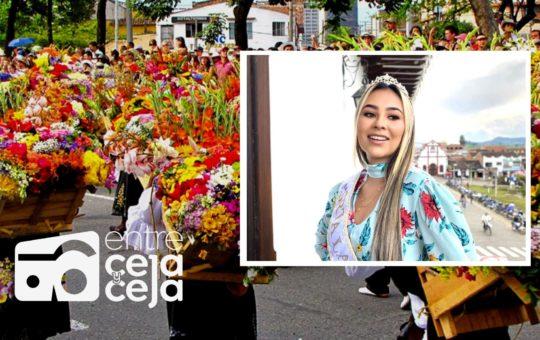 De La Unión, es la nueva reina de la Feria de las Flores.