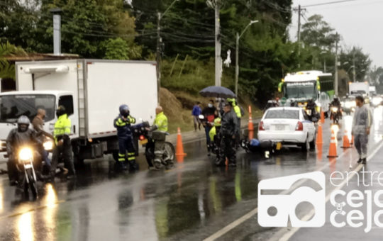 Una persona fallecida dejó accidente de tránsito en la vía Las Delicias – Aeropuerto en Rionegro