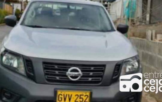 Rionegro: En Medellín apareció la camioneta robada en Linda Granja.