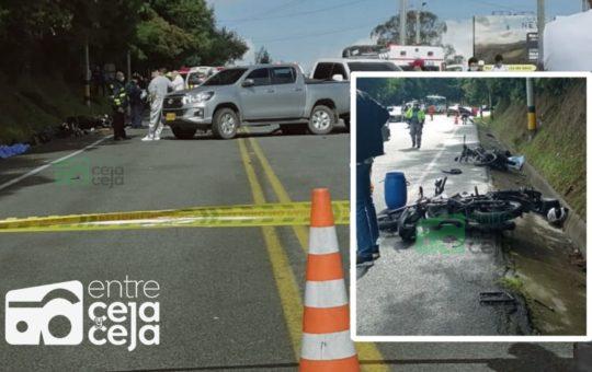 Accidente múltiple dejó como saldo un muerto en la vía Aeropuerto – Palmas.