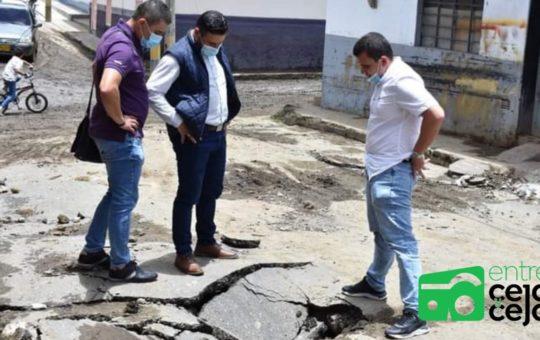 Sonsón: Alcalde dijo que reparará las vías afectadas por aguacero del Domingo.