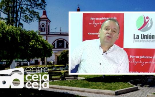 """""""¿Se le salió el municipio de las manos""""? La pregunta a la que respondió el alcalde de La Unión, Alexánder Osorio."""