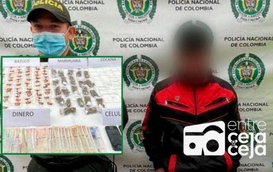 Alias «Gaucho» y «Mingo», capturados por tráfico de estupefacientes en El Carmen.