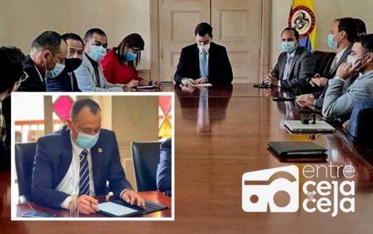 Alcalde de El Retiro trae de Bogotá muy buenas noticias para el municipio.