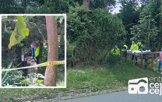 Rionegro: Cuerpo encontrado en zona boscosa llevaba más de dos días en el lugar.