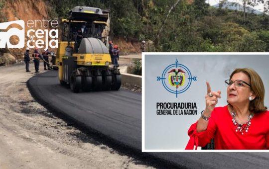 Procuraduría requirió a la Gob. de Antioquia por incumplimiento en contrato de obras en vía Granada – San Carlos.