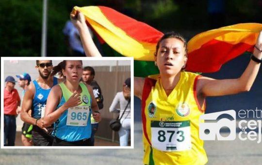¡La Ceja en Ecuador! Estefanía Aristizábal, con toda en el Suramericano Sub-23 de atletismo.