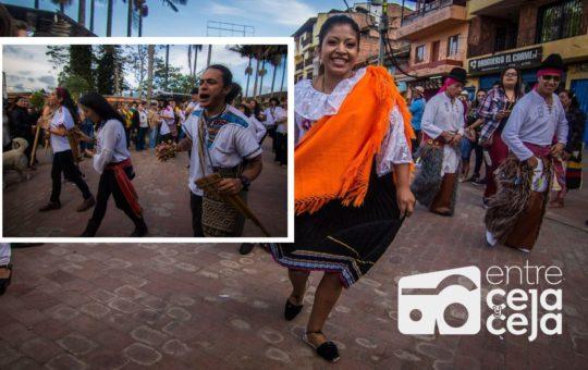 En El Carmen se vive el Carnavalito de Música Andina.